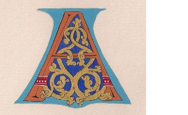 Pielgrzymi Pióra Wstęp Do Kaligrafii łacińskiej-uncjała  I  Malowanie  Inicjału