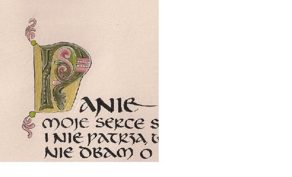 Pielgrzymi Pióra Wstęp Do Kaligrafii łacińskiej-uncjała  I  Malowanie  Inicjału 2