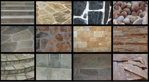 Kamienie Naturalne-dekoracyjne, Ogrodowy, Gnejs, łupek, Otoczaki