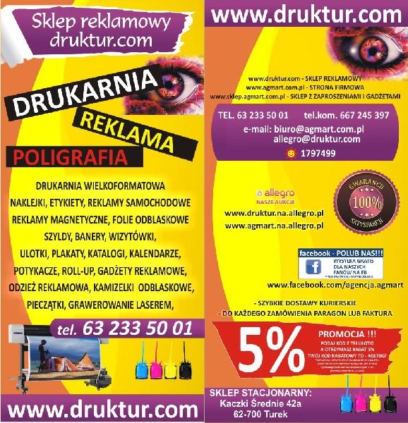 Drukarnia  Agmart Najtańsze Szyldy Reklamowe